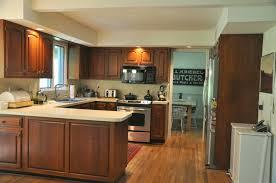 kitchen design ideas cabinets brown interior excellent u shaped brown and creamy kitchen design