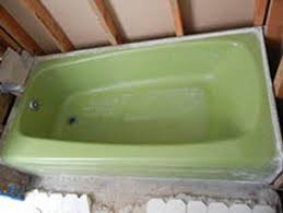 reglazing tile certified green: bathroom with walls and tile removed demonstrating all the work needed above the bathtub and why