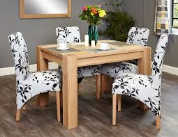 baumhaus aston oak dining set with 4 upholstered chairs baumhaus aston oak dining set