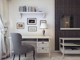 appealing modern home office room design ideas white wall white varnished wooden office desk white varnished appealing design ideas home office interior