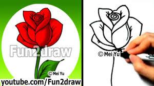 How to <b>Draw</b> an Easy <b>Rose</b> - <b>Drawing</b> Lessons - Learn to <b>Draw</b> ...