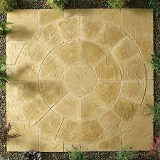patio slab sets: abbey circle kit mtr york gold patio kit