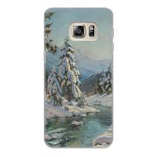 """Чехол для Samsung Galaxy S6 Edge, объёмная печать """"<b>Зимний</b> ..."""