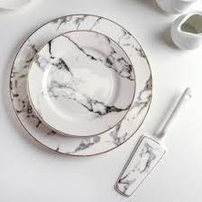Набор для торта «Марбл», 8 предметов: <b>большая тарелка 27</b> см ...