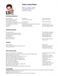 dance resume template com dance resume template and get inspiration to create a good resume 9
