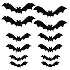 The Holiday Aisle <b>12 Piece</b> Scary <b>Bats</b> Hanging Yard Decoration Set ...