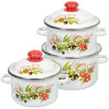 <b>Набор эмалированной посуды Сибирские</b> товары Оливки 15 ...