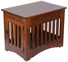 mission dog crate end table furniture style dog crates