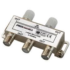 Купить ДЕЛИТЕЛЬ ТВ х 4 под F разъём 5-1000 МГц <b>PROCONNECT</b>