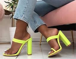 2019 <b>Women Summer</b> Platform 10.5cm <b>High</b> Heels Block <b>Thick</b> ...