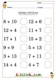 Adding Fun Worksheets, Kindergarten addition, Addition for kidsAdd Upto 18