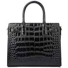 Women Genuine Leather Handbags Embossed-Crocodile <b>Cowhide</b> ...