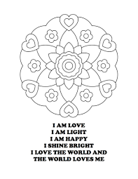 Small Picture I am Love I am Light Mandala Coloring Page Color this page with