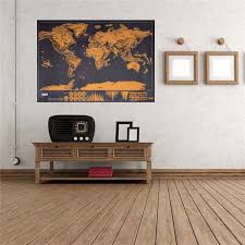 Luxury Edition <b>Black</b> Scrape <b>World Map</b> Deluxe Travel Scratch ...