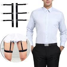 <b>1 Pair</b> Shirt Stays Holders for <b>Men</b> and Women Garters Suspenders ...