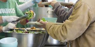 Image result for feeding at homeless shelter