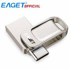 <b>EAGET CU20 USB</b> Flash Drive 32GB OTG Metal <b>USB</b> 3.0 Pen Drive ...