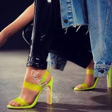 Shoespie <b>Sexy</b> Chunky Heel <b>Slingback</b> Strap <b>Open Toe</b> Jelly Sandals