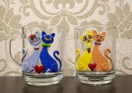 Мастер-класс по декору кружки полимерной глиной в виде кошек