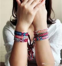 <b>Bohemian Thread Bracelet Retro</b> Handmade Boho Multicolor String ...