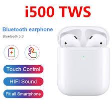 <b>I500</b> TWS Wireless Earphone 5D Super Bass <b>Wireless Charging</b> ...