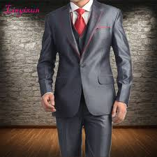 Linyixun <b>2018 New Design Men</b> Suits Blazer Shiny Gray Groom ...