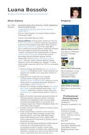 assistant executive director public relations practice directorate resume samples pr resume template