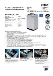 <b>KOBRA 310 TS HS</b>-6 Brochure.pdf - TradeShredders.com