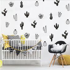 32 Pcs per lot <b>Cactus Wall Art</b> Stickers DIY Decal Home Decor ...