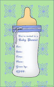 printable baby shower invites st birthday invitations big baby bottle as invitation