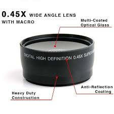 <b>58MM 0.45x Wide Angle</b> Lens + Macro Lens for Canon EOS 350D ...