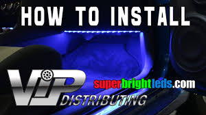 How to install <b>LED footwell Lights</b> with RGB <b>LED</b> Strips - YouTube