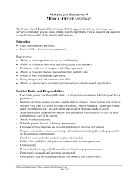 job description for resume professional resume template