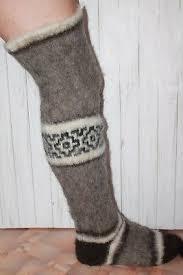 <b>NEW MEN's</b> LEG WARMERS sheep wool KNEE SOCKS warm ...