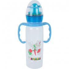 <b>Бутылочка Бусинка пластик с</b> силиконовой соской с ручками и ...