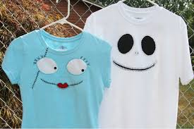 Jack Skellington & Sally T-Shirts in Time for Mickey's Not So <b>Scary</b> ...