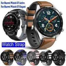 Genuine Leather Silicone Watch Band For Huawei Watch GT ... - Vova