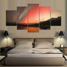 <b>5 Pieces HD</b> Print Canvas Painting Beautiful Landscape Paintings ...