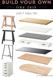 build your own modern sleek desk for as low as 26 her desk is build your own office