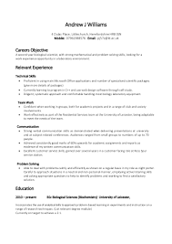 resume examples  example of skills for resume personal injury        resume examples  example of skills resume for careers objective with relevant experience and education