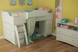 lovely white twin loft kids bed design with desk and shelves also ladder beside bedroom kids designs bunk