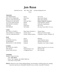 resume jon rose print my reacutesumeacute here
