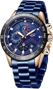 LIGE <b>Watch</b> for <b>Men Fashion Sport</b> Military Steel Waterproof Date ...