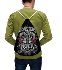 "Рюкзак-мешок с полной запечаткой ""<b>МУЗЫКА</b>. MONSTERS <b>ROCK</b> ..."