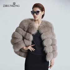 ZIRUNKING Women Warm <b>Real Fox Fur</b> Coat Short <b>Winter</b> Fur ...