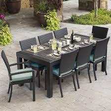 patio dining: rst brands deco  piece espresso composite patio dining set