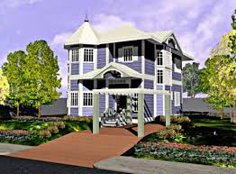 Custom Home Plans by Asis Leif Designs  Unique Luxury Victorian    Victorian model home