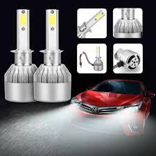 Car & Truck Headlights 2x 76W 7200LM COB H1/<b>C6 Car LED</b> ...