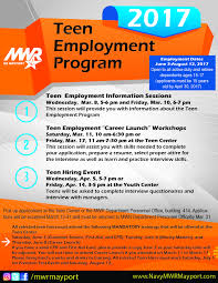 teen center teen employment