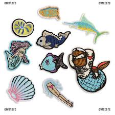 <b>Mermaid Embroidery</b> Sew <b>Iron On Patch</b> Badge Bag Clothes Fabric ...